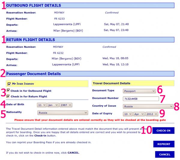 инструкция онлайн регистрация Ryanair - фото 6